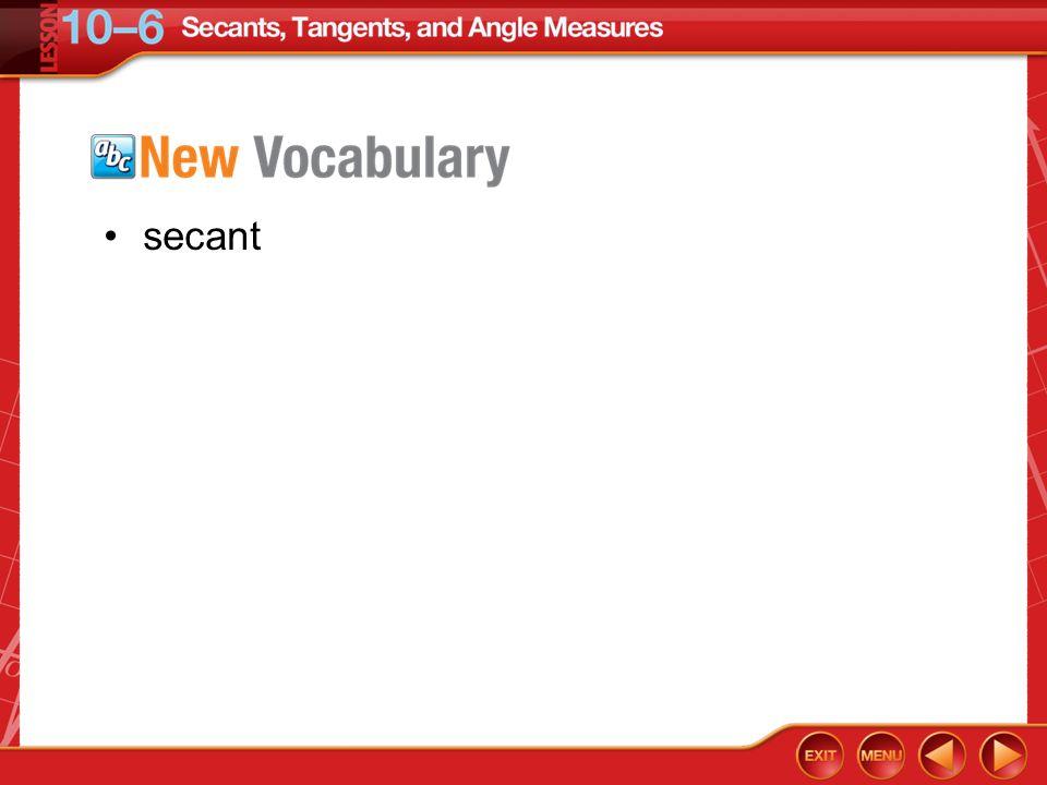 secant Vocabulary