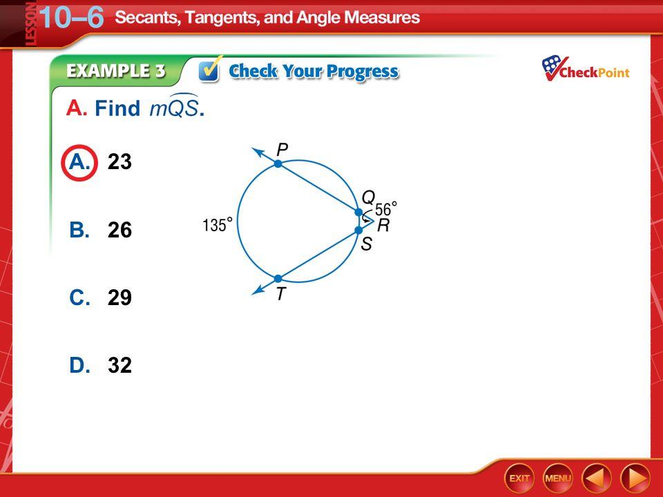 A. A. 23 B. 26 C. 29 D. 32 Example 3