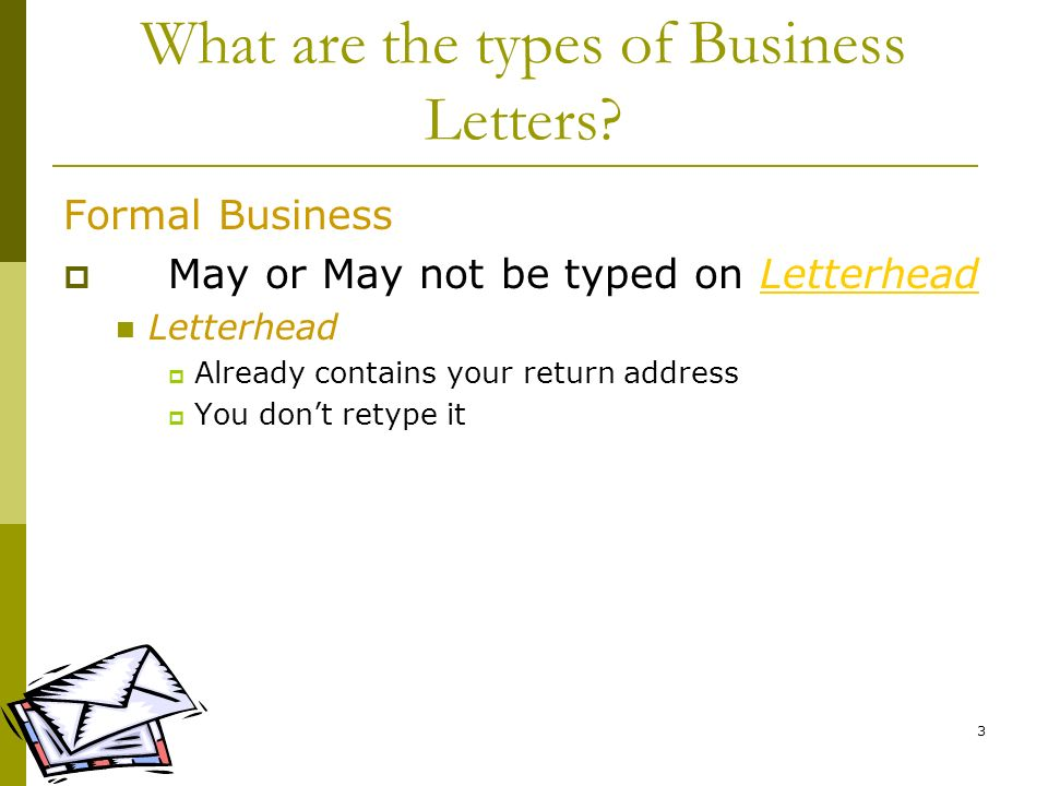 What are the types of Business Letters