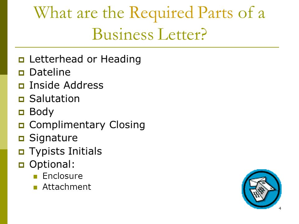 What are the Required Parts of a Business Letter