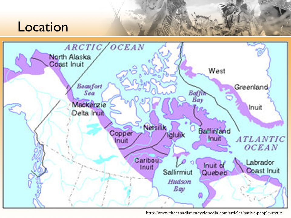 The inuit ppt video online download 3 location sciox Choice Image