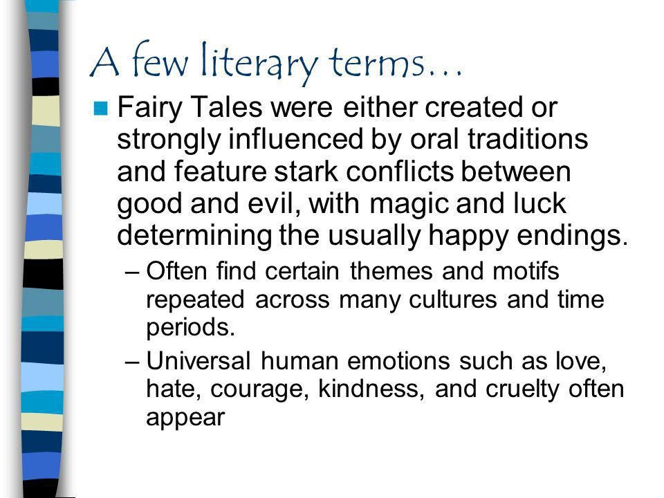 A few literary terms…
