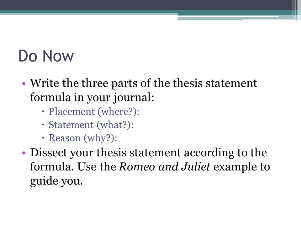 placement of thesis statement Myessaydoccom provides reliable thesis statement help on all academic assignments are you looking for academic help we are here for you order now.