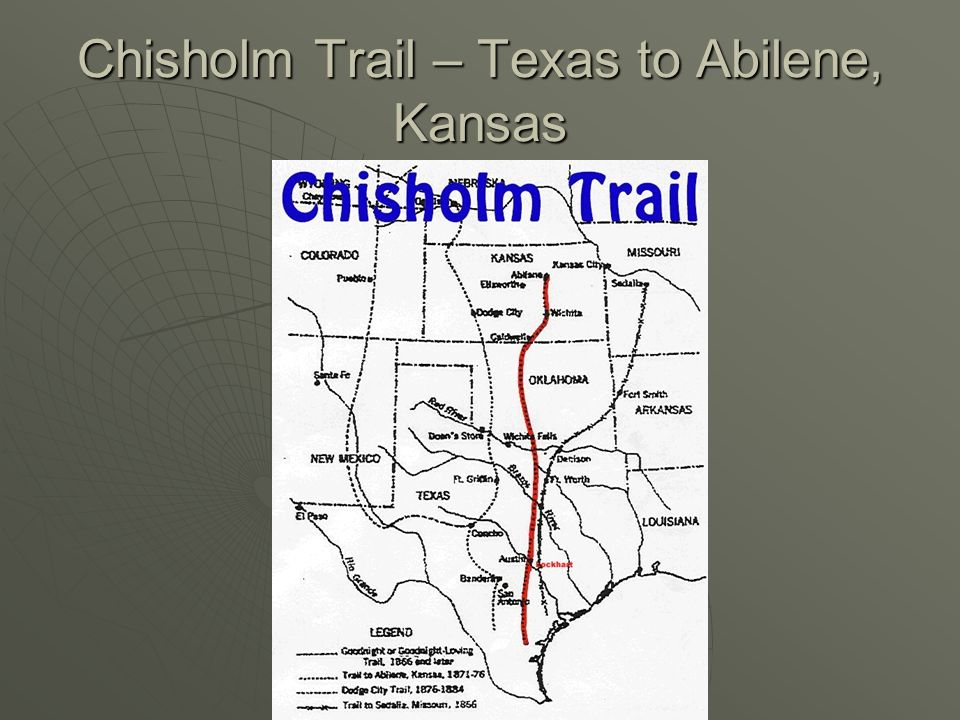 Chisholm Trail – Texas to Abilene, Kansas