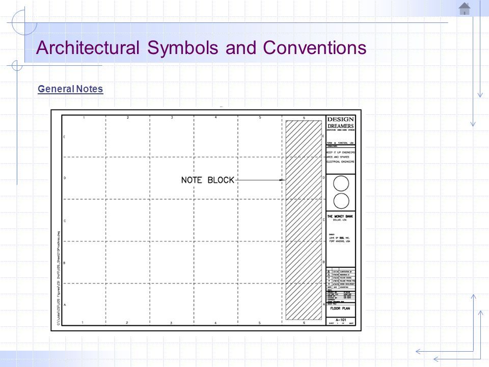 Architectural drawing ppt video online download - General notes for interior design drawings ...