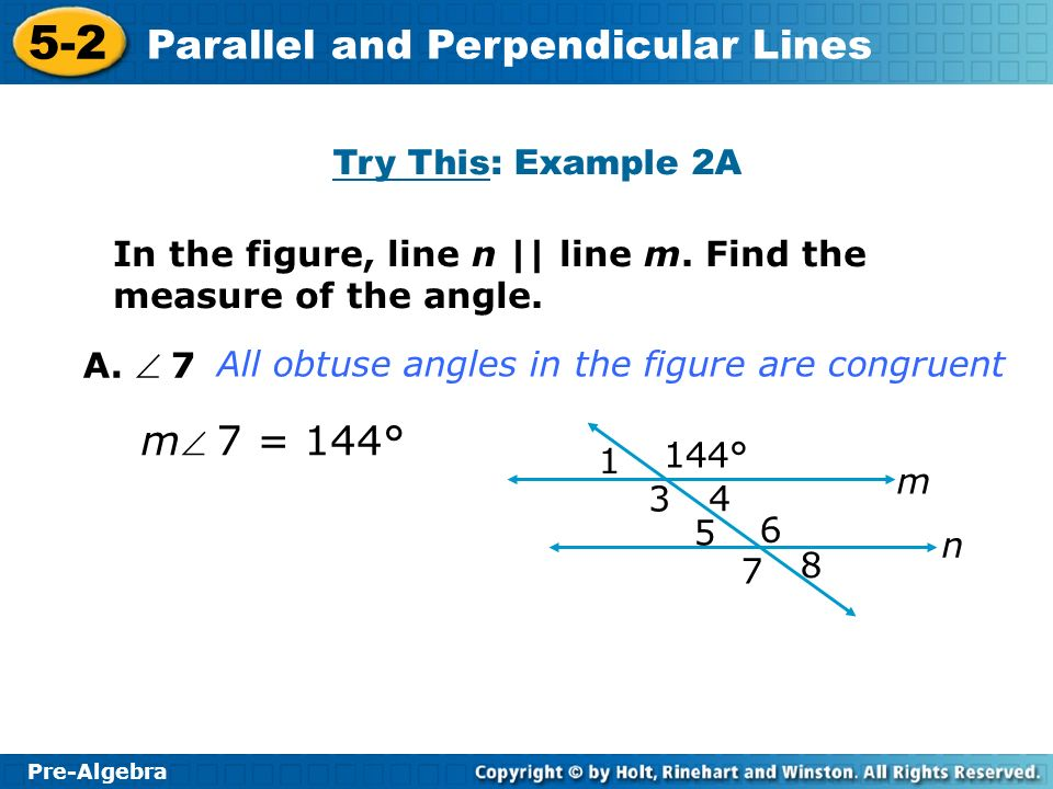 m 7 = 144° Try This: Example 2A