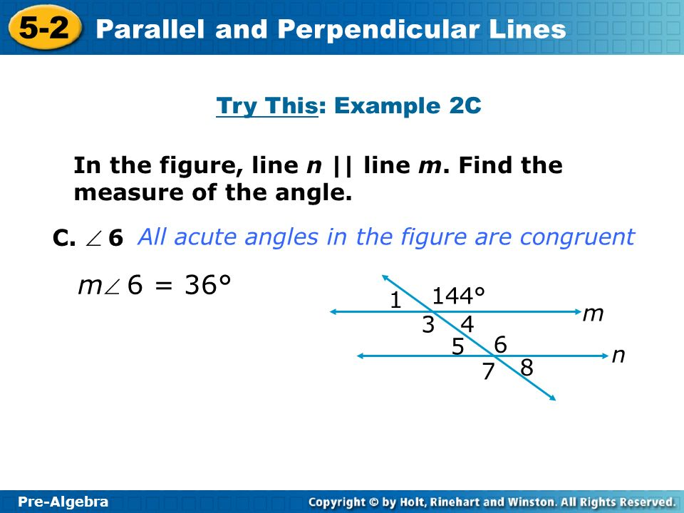 m 6 = 36° Try This: Example 2C