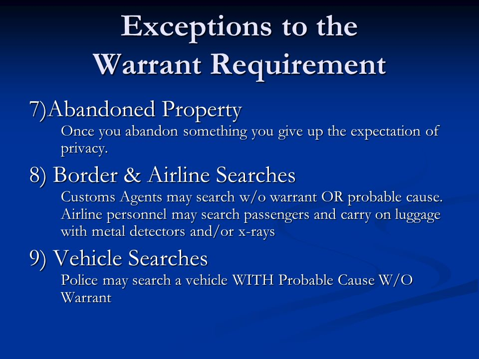 The Fourth Amendment What Are Your Rights? Search And