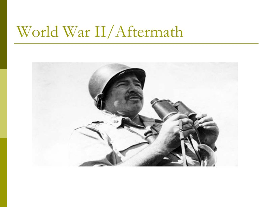 World War II/Aftermath