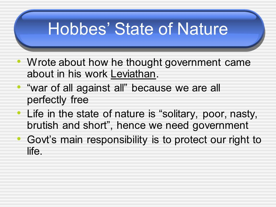 Hobbes' State of Nature