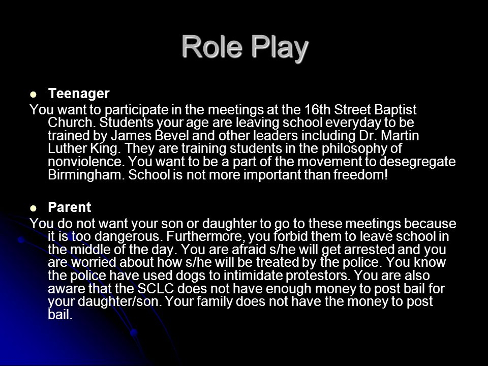 Role Play Teenager.