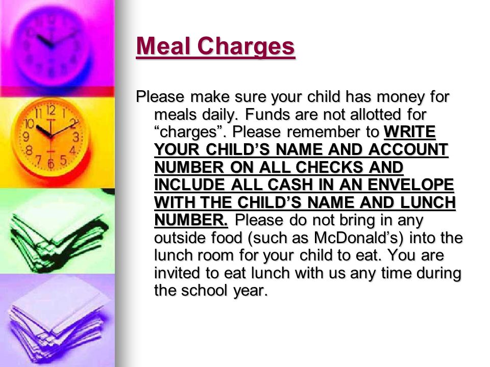 Meal Charges