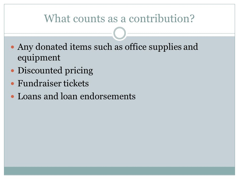 What counts as a contribution