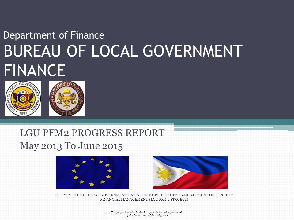 Department of finance bureau of local government finance for Bureau government