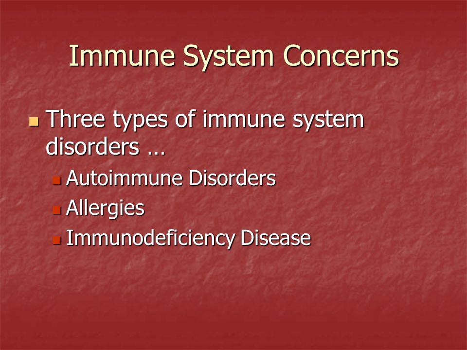 Immune System Concerns
