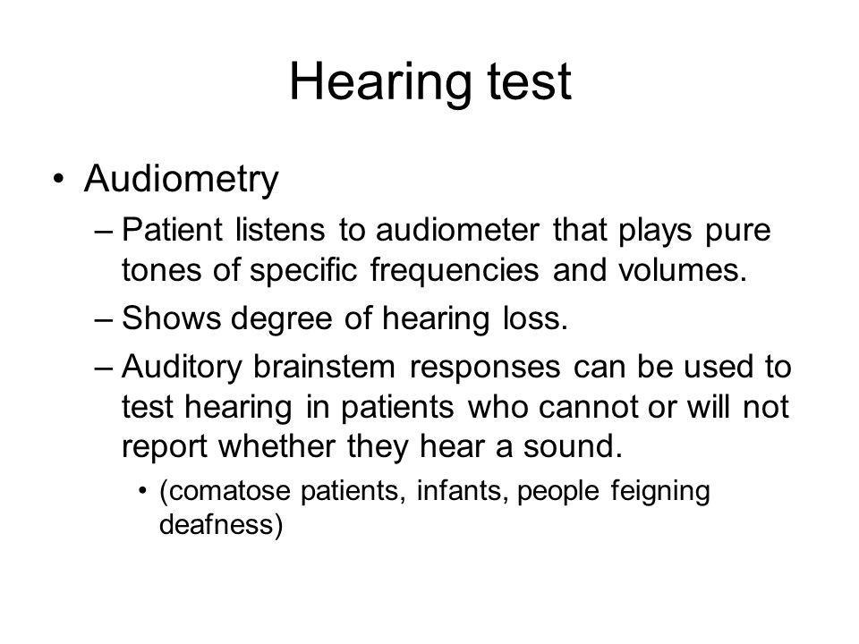 Hearing test Audiometry