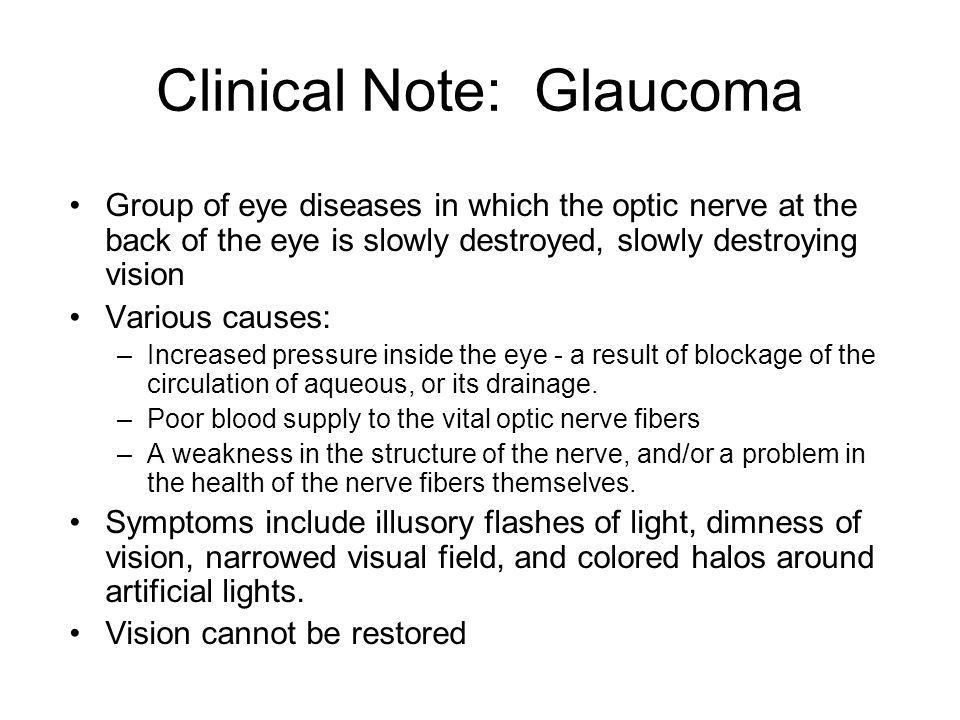 Clinical Note: Glaucoma