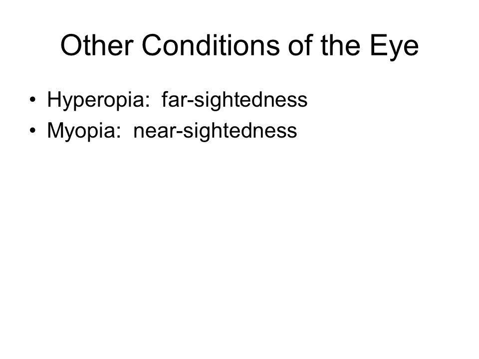 Other Conditions of the Eye