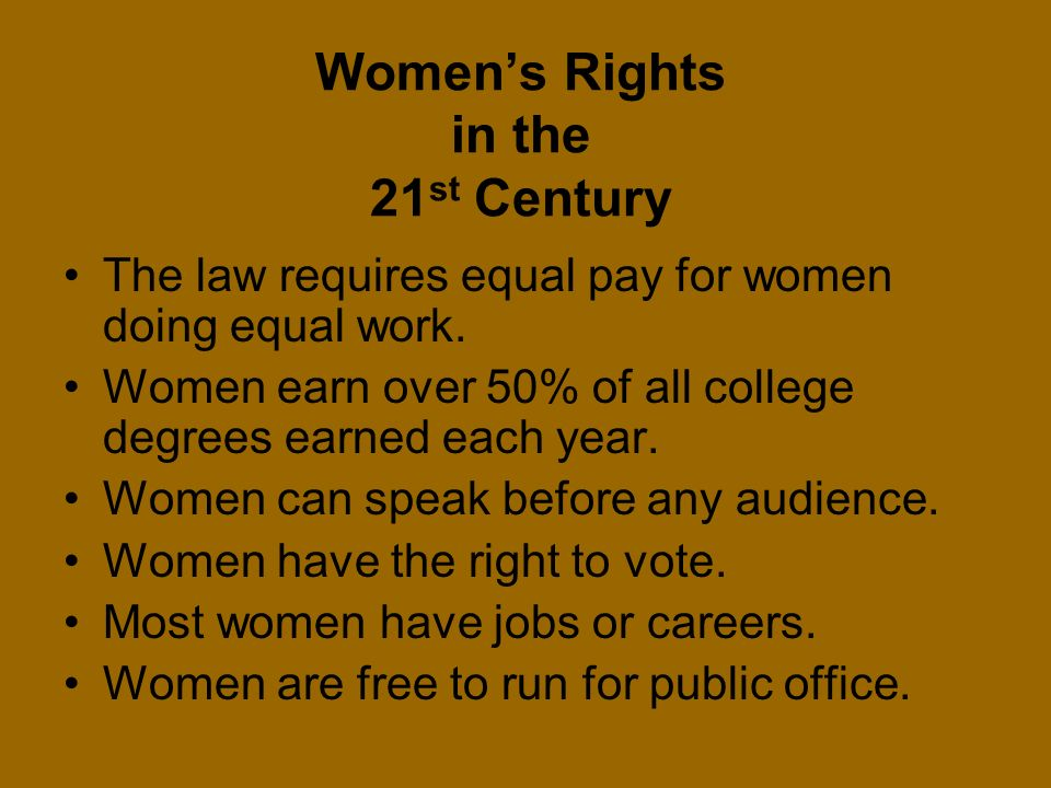 Women's Rights in the 21st Century