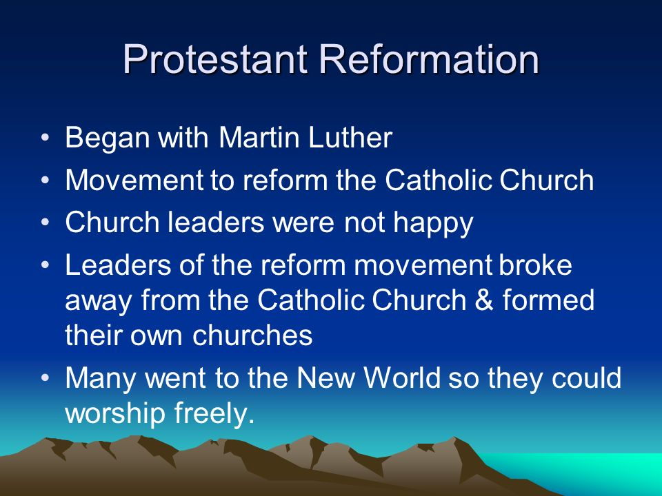 Protestant Reformation
