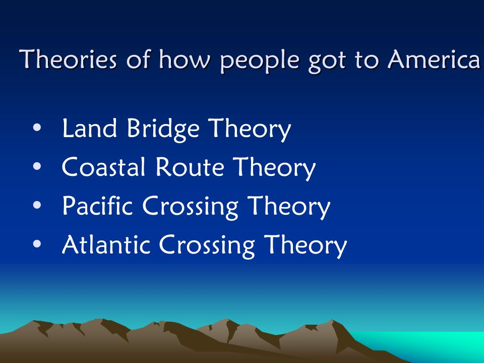 Theories of how people got to America