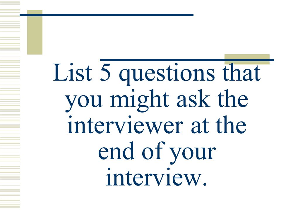 how to ask interviewers name