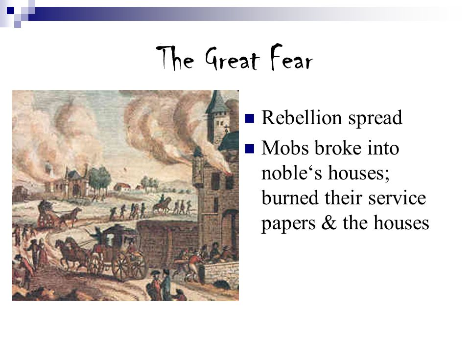 The Great Fear Rebellion spread