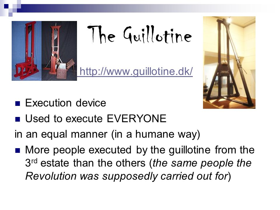 The Guillotine   Execution device