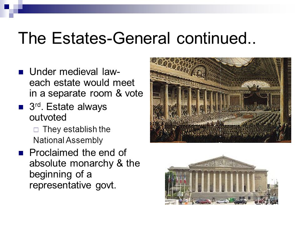 The Estates-General continued..