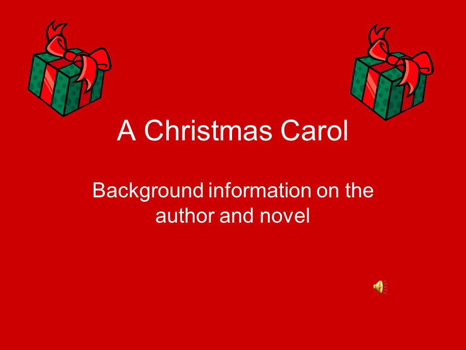 Background information on the author and novel