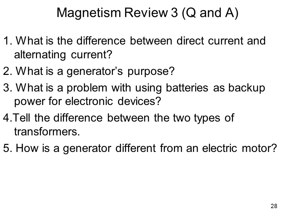 Magnetism Review 3 (Q and A)
