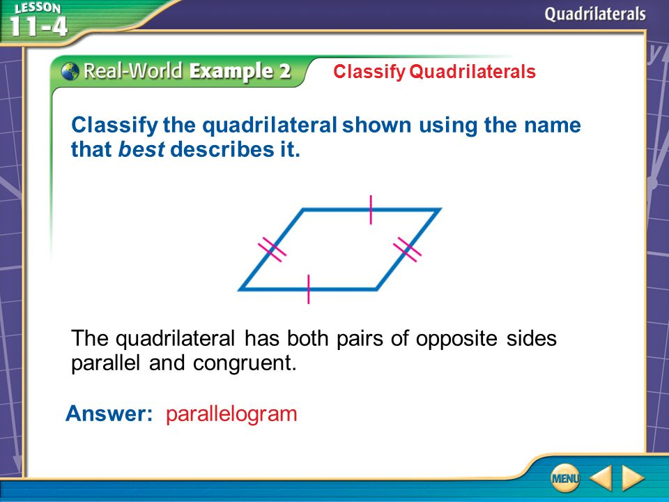 Answer: parallelogram