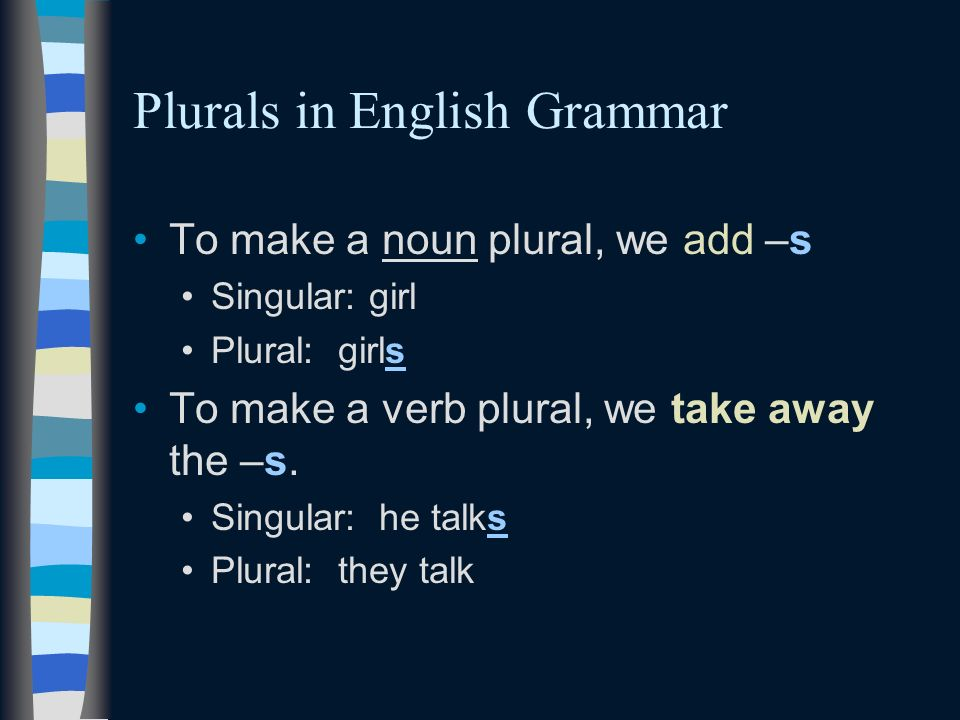 Plurals in English Grammar