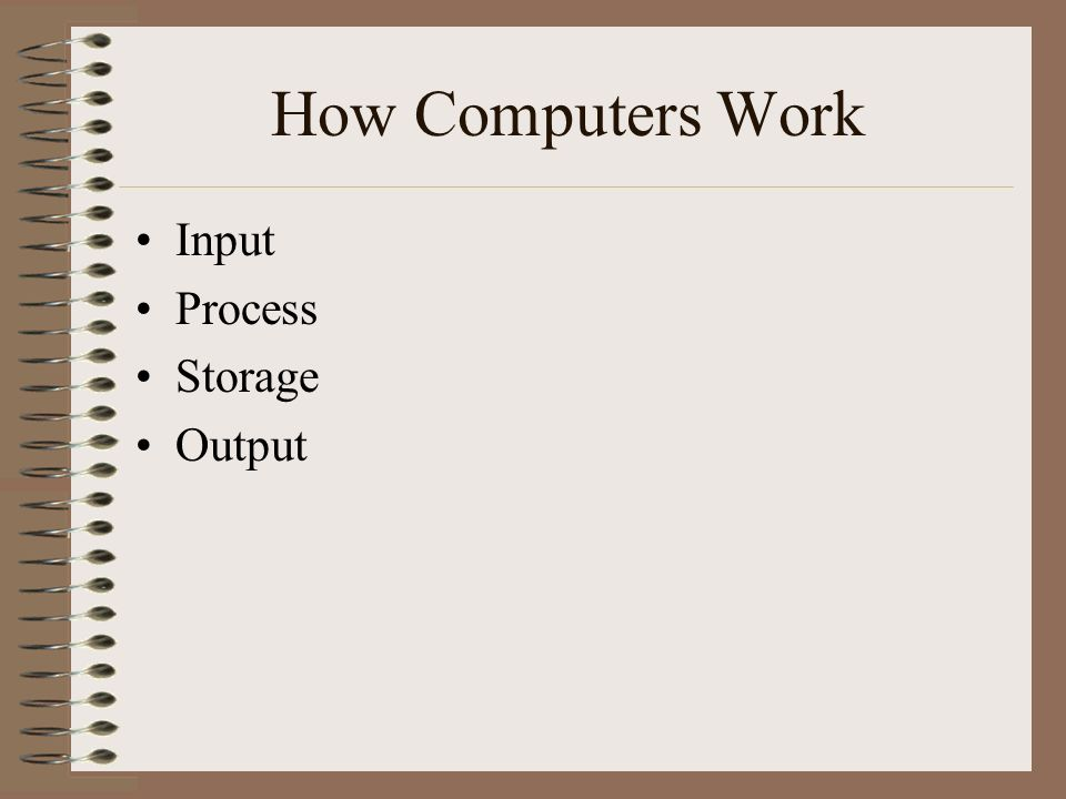 How Computers Work Input Process Storage Output