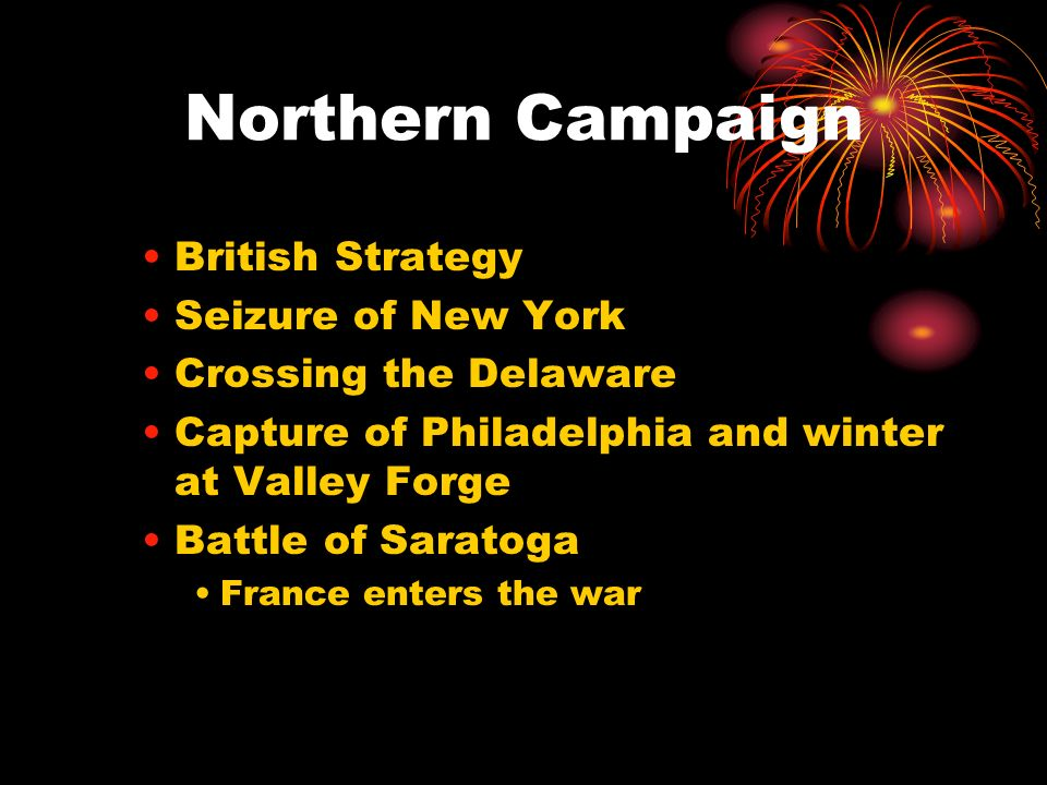 Northern Campaign British Strategy Seizure of New York