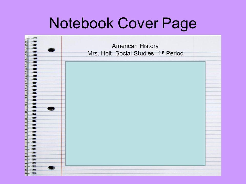 Mrs. Holt Social Studies 1st Period