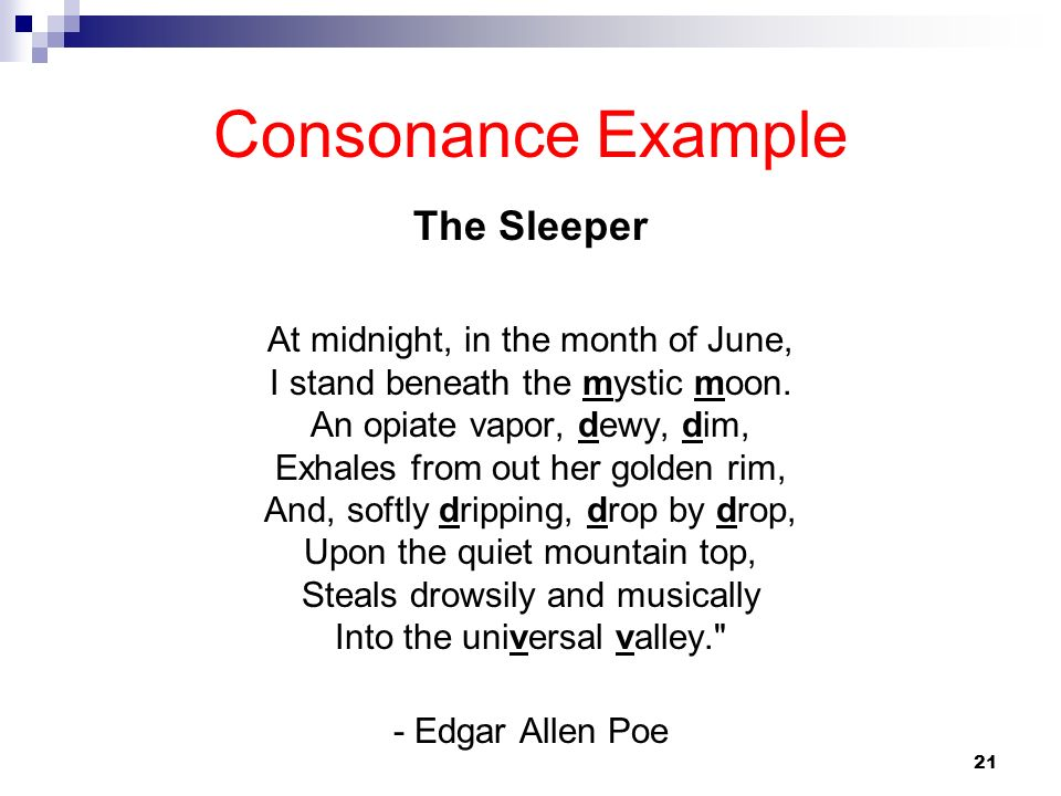 Consonance Example The Sleeper
