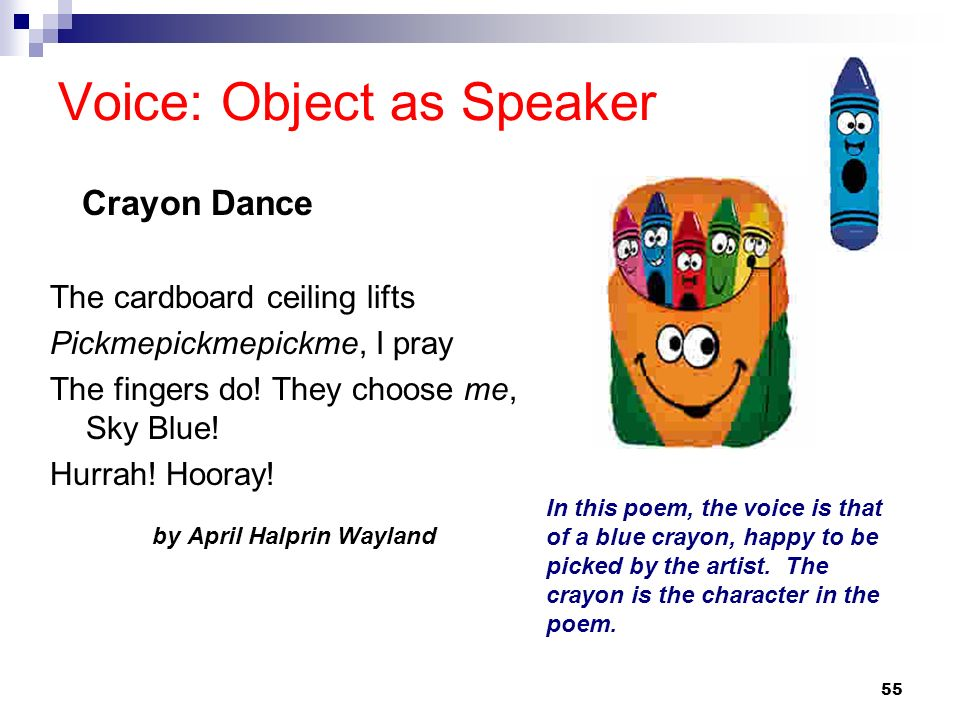 Voice: Object as Speaker
