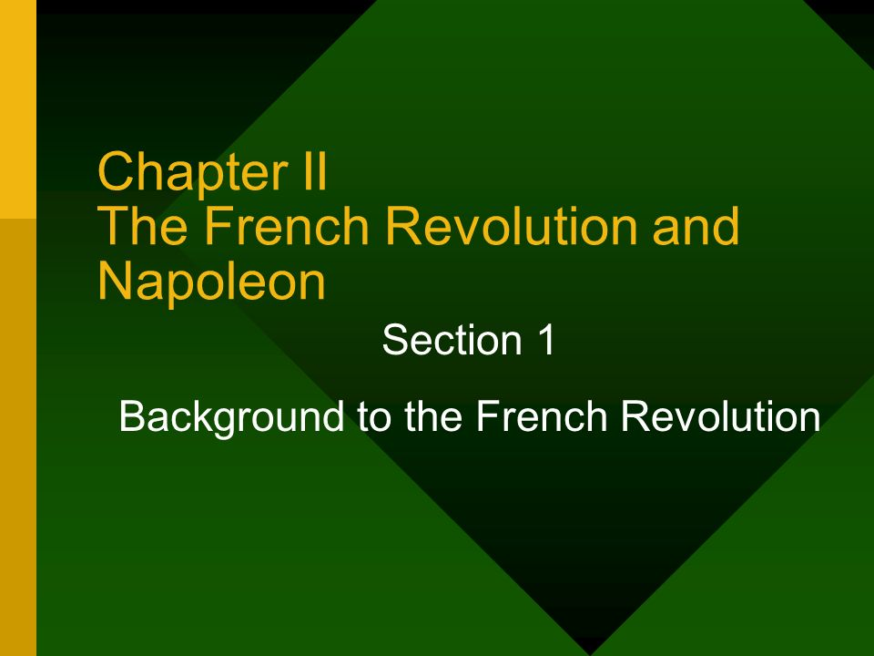 Chapter II The French Revolution and Napoleon