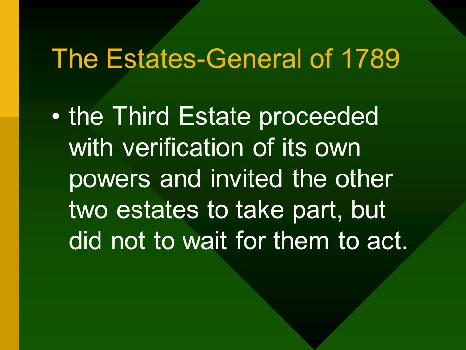 The Estates-General of 1789