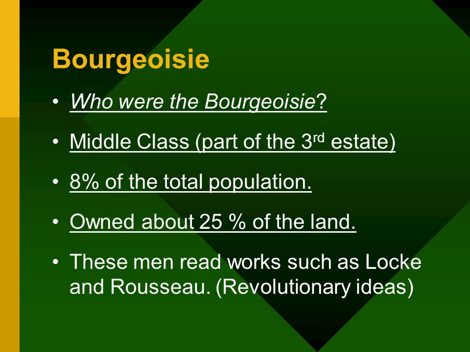 Bourgeoisie Who were the Bourgeoisie