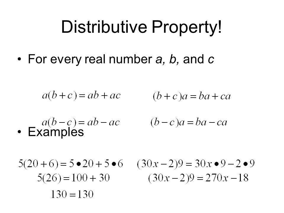 Distributive Property!