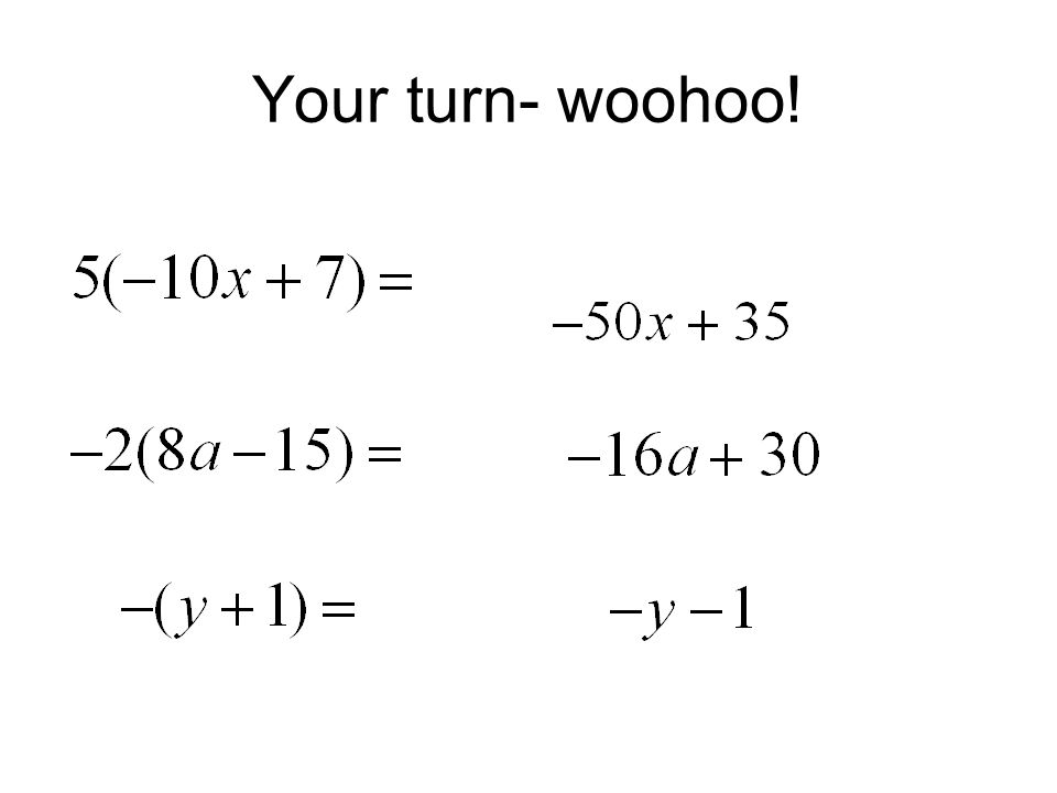 Your turn- woohoo!