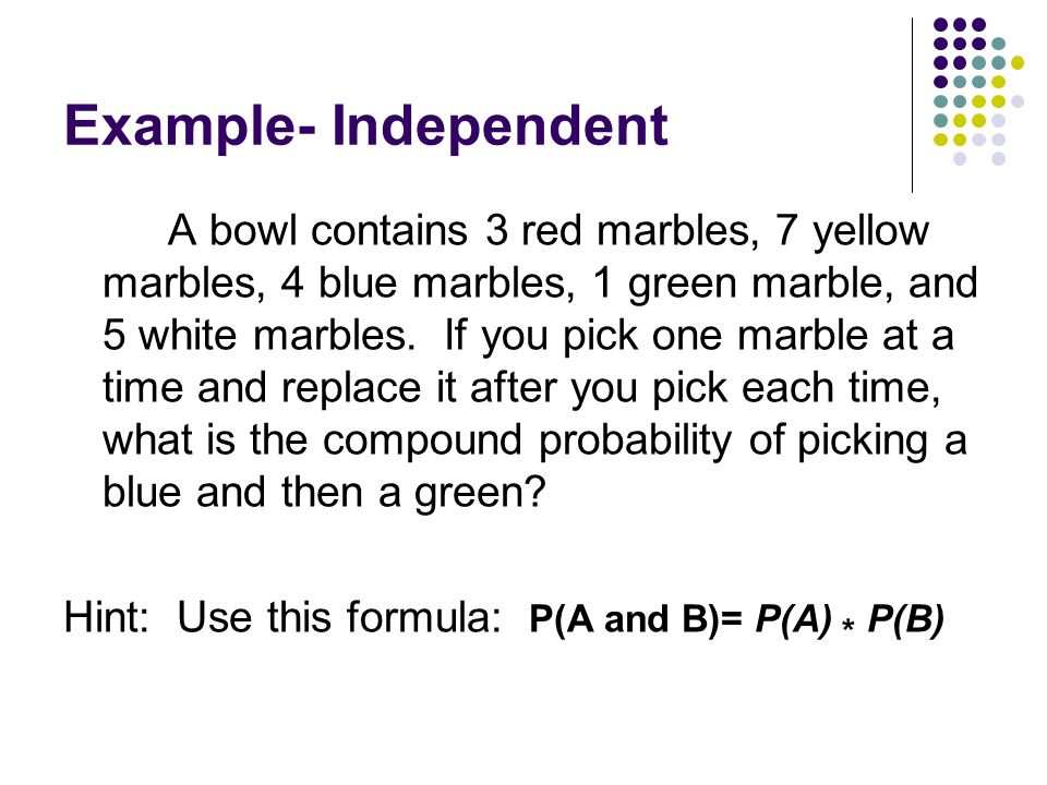 Example- Independent