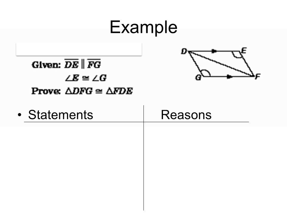 Example Statements Reasons