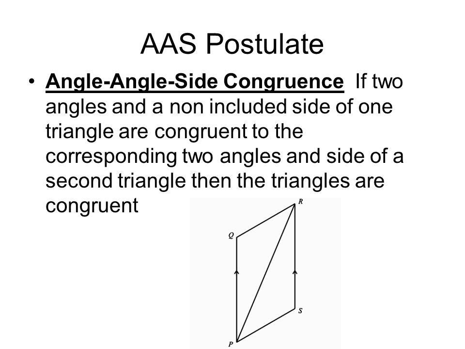 AAS Postulate
