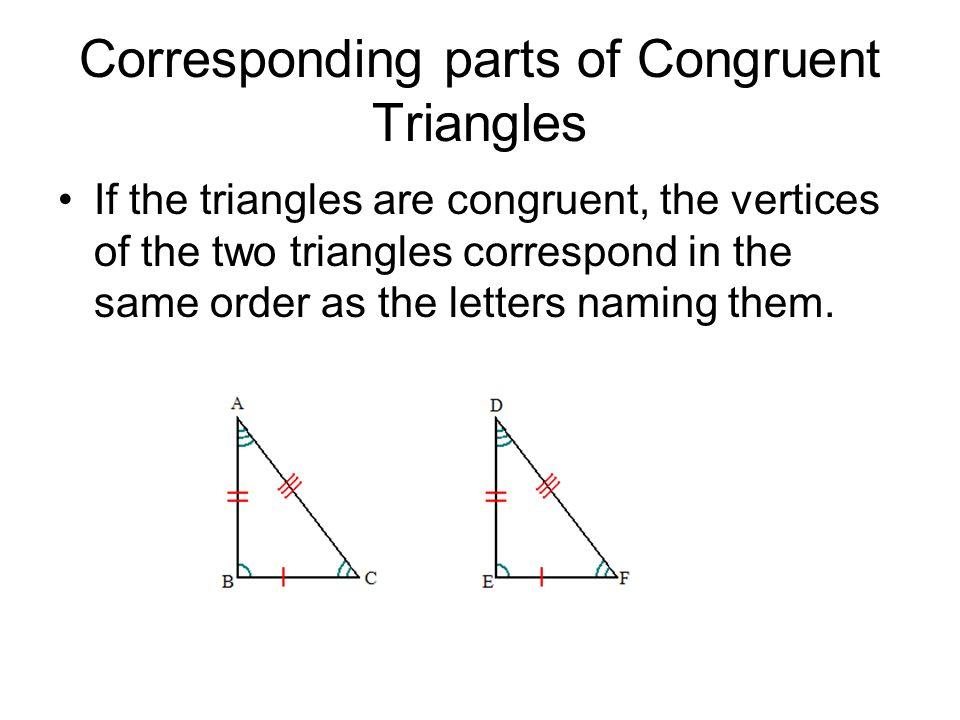 Corresponding parts of Congruent Triangles