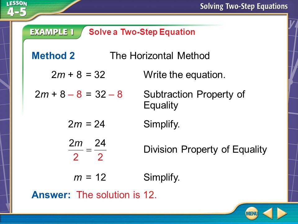 Method 2 The Horizontal Method