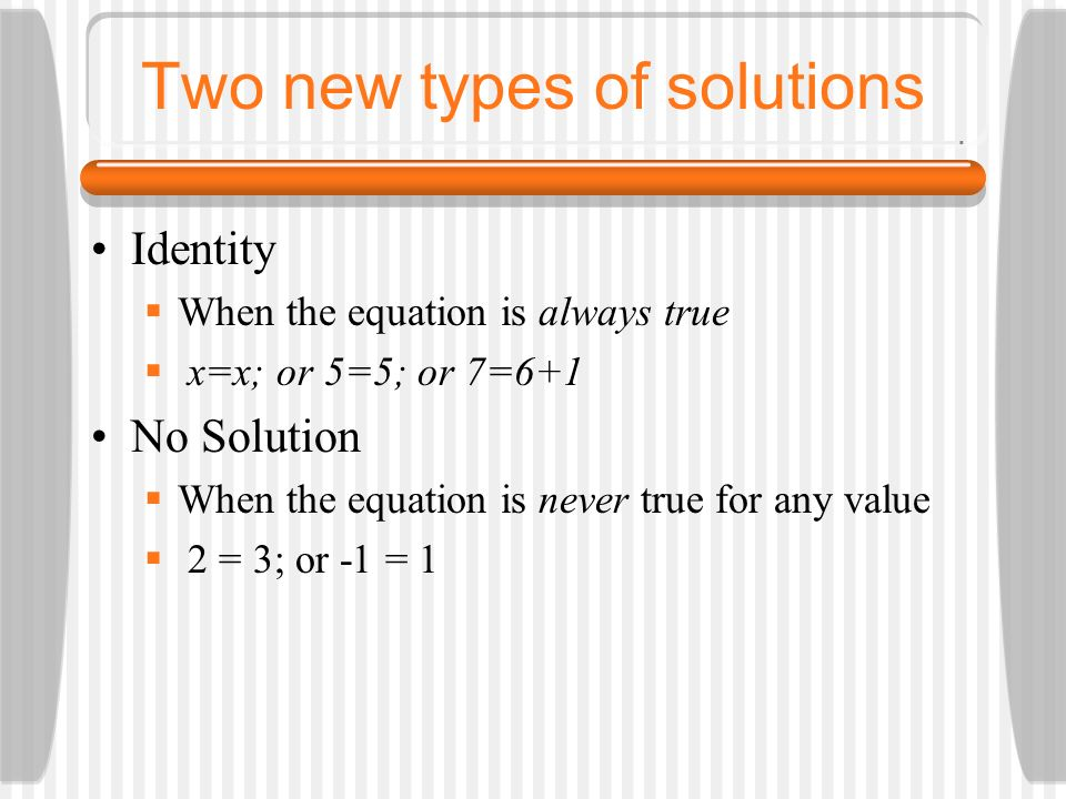 Two new types of solutions
