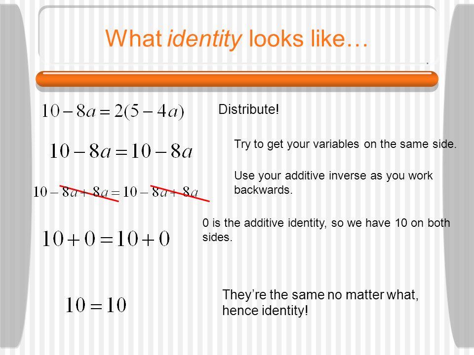 What identity looks like…